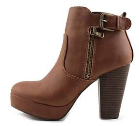 Material Girl Womens Raelyn Closed Toe Ankle Fashion Boots Fashion Boots.