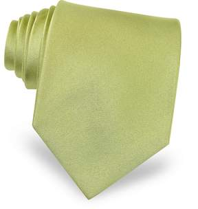 Forzieri Solid Green Extra-Long Tie