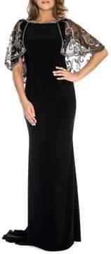 Decode 1.8 Beaded Cape Dress
