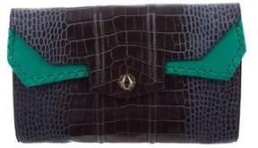 Reece Hudson Embossed Leather Cutch