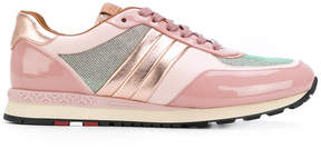 Bally metallic lace-up sneakers