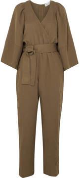 Apiece Apart Meru Slub Woven Jumpsuit - Army green