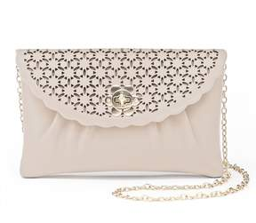 La Regale Lenore By Lenore by Perforated Floral Envelope Clutch