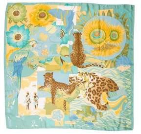 Salvatore Ferragamo Silk Animal Print Scarf