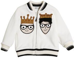 Dolce & Gabbana Family Zip Up Cotton Sweatshirt