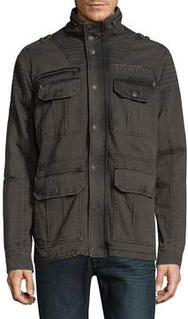 Affliction Men's Windowpane Cotton Jacket
