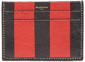 Balenciaga Bazar striped leather cardholder