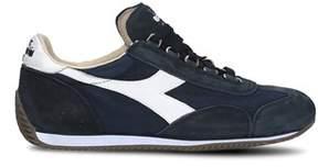 Diadora Heritage Men's Blue Cotton Sneakers.