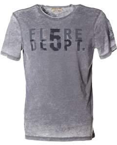 Blauer Men's Grey Cotton T-shirt.