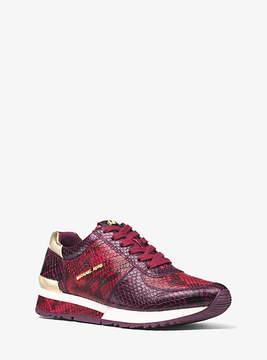 Michael Kors Allie Embossed-Leather Sneaker