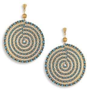 Ettika Teal Swirl Chain Earrings