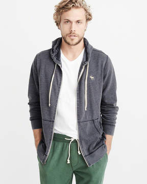 Abercrombie & Fitch Burnout Icon Full-Zip Hoodie