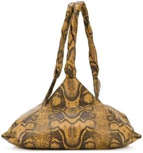 Givenchy python print Pyramid bag