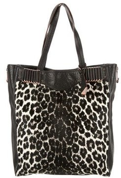Rebecca Minkoff Ponyhair-Trimmed Tote Bag