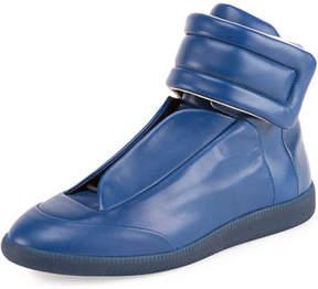 Maison Margiela Men's Future Leather High-Top Sneakers
