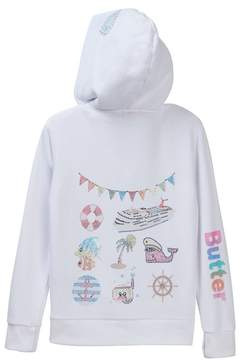 Butter Shoes Super Soft Fleece Zip Hoodie (Big Girls)