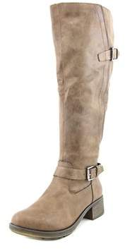 Style&Co. Style & Co Gayge Wide Calf Women Round Toe Synthetic Brown Knee High Boot.