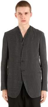 Isabel Benenato Pinstriped Cotton & Linen Jacket
