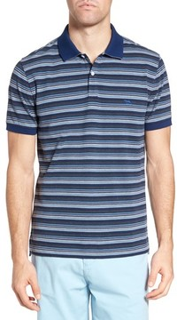 Rodd & Gunn Men's Macdonald Downs Sports Fit Stripe Pique Polo