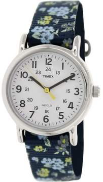 Timex Women's Weekender T2P370 Blue Nylon Analog Quartz Fashion Watch