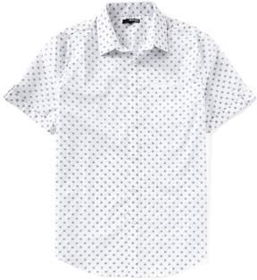 Murano Slim-Fit Geo Print Short-Sleeve Woven Shirt