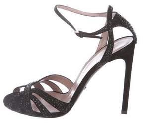 Gucci Suede Crystal-Embellished Sandals