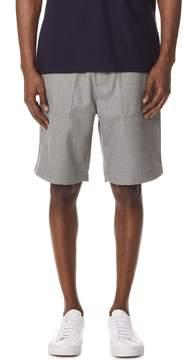 Ami Elastic Waist Bermuda Shorts