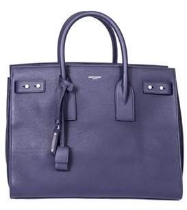 Saint Laurent Women's Blue Leather Handbag. - BLUE - STYLE