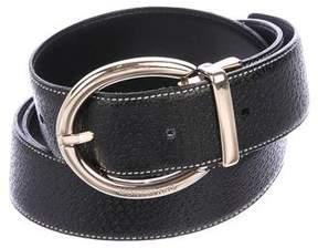 Montblanc Pebbled Leather Belt