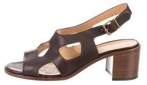 Robert Clergerie Clergerie Paris Leather Ankle Strap Sandals