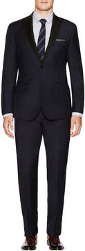 English Laundry Men's Regular Fit Peak Lapel Wool Suit