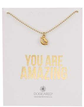 Dogeared 14K Gold Vermeil You Are Amazing Lips Necklace