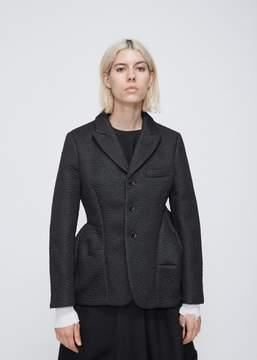 Comme des Garcons Leather Effect Notch Lapel Jacket