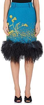 Prada Women's Embellished Wool-Blend Pencil Skirt