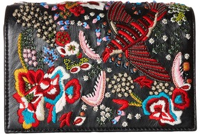 Alice + Olivia - Embroidered Leather Bird Party Clutch Clutch Handbags