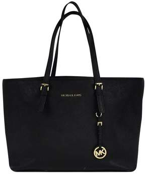 Michael Kors Black Leather Tote Bag - BLACK - STYLE