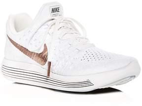 Nike Women's Lunarepic Glitter Flexknit Lace Up Sneakers