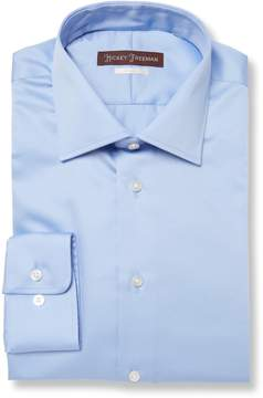 Hickey Freeman Men's Classic Fit Broadcloth Cotton Dress Shirt