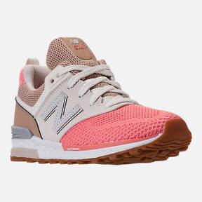 New Balance Girls' Preschool 574 Sport Casual Shoes