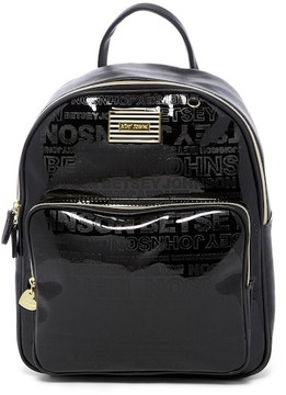 Betsey Johnson Perforated Logo Square Backpack