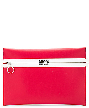MM6 Maison Margiela Clutch in Red.
