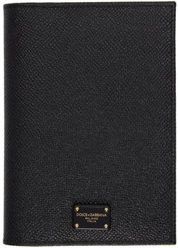 Dolce & Gabbana Black Logo Passport Holder - BLACK - STYLE