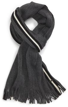 BOSS Men's Fador Wool Stripe Scarf