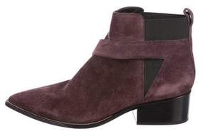 Sigerson Morrison Suede Pointed-Toe Ankle Boots