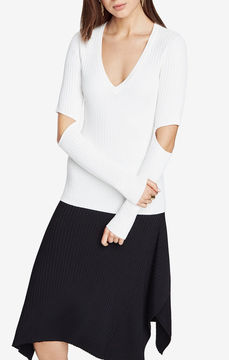 BCBGMAXAZRIA Janele Elbow-Slit Sweater
