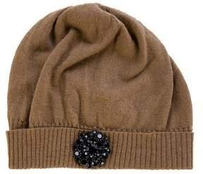 Lanvin Embellished Knit Beanie