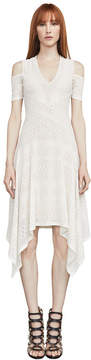 BCBGMAXAZRIA Odette Asymmetrical Cold-Shoulder Dress