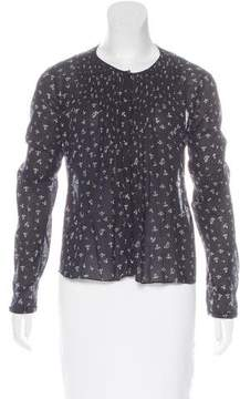 Band Of Outsiders Printed Long Sleeve Top