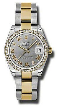 Rolex Datejust Lady 31 Grey Dial Stainless Steel and 18K Yellow Gold Oyster Bracelet Automatic Watch
