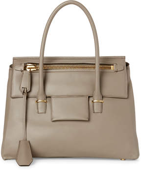 Tom Ford Beige Icon Leather Satchel